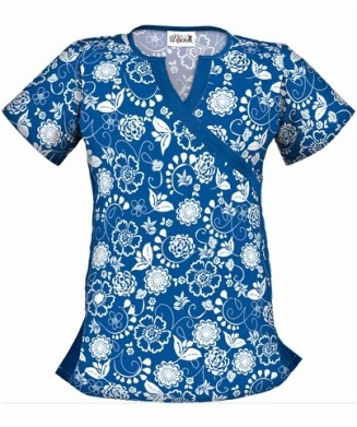 U403BOT UA Women's Botanical Garden Royal Crossover V-Neck Scrub Top