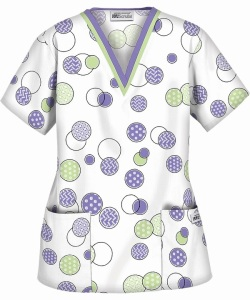 UA Cross Stitch Dark Lilac Scrub Top