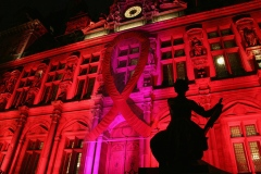 Paris City Hall on World AIDS Day