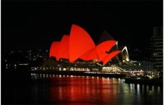 Sydney Opera House on World AIDS Day