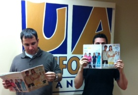 Us with our catalogs!
