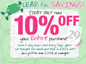 Leap into Savings