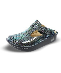 ALG715 Alegria Women's Brilliant Snake Classic Leather Clog