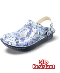 SEV343 Alegria Women's Blue Lovely Patent Leather Seville Clog