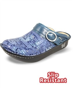 SEV583 Alegria Women's Blue Stone Leather Seville Clog