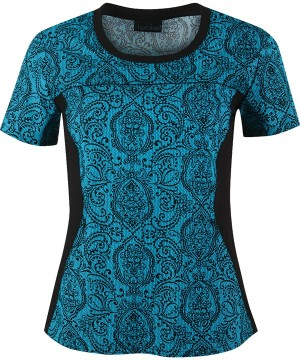 CK2983LC Cherokee Flexible Scrubs Lacy Day Print Top