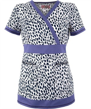 K147LEP  Koi Scrubs Leopard Print Top