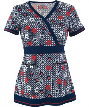 K147PST Koi Scrubs Pop Star Print Top $26.99