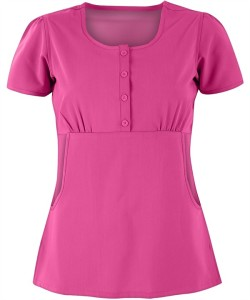AUA1000 Advantage By UA™ Missy Empire Waist STRETCH Scrub Top