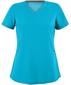 AUA1001  Advantage By UA™ Missy Rounded V-Neck STRETCH Scrub Top