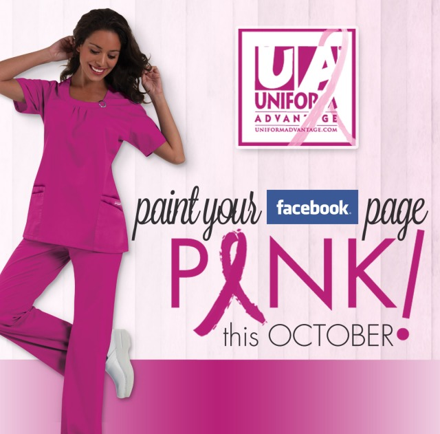 Paint your facebook page pink uniform advantage