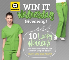 Wink scrubs giveaway uniform advantage