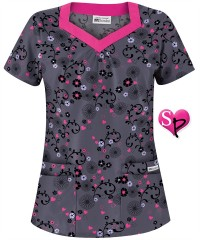 UA Scrubs Women's Romance of Nature Print Scrub Top