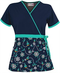 UA Scrubs Sail Away Mock Wrap