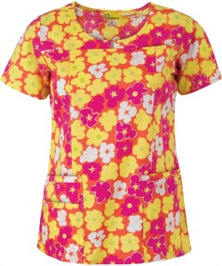 WonderWink Scrubs Petal Splash Print Top
