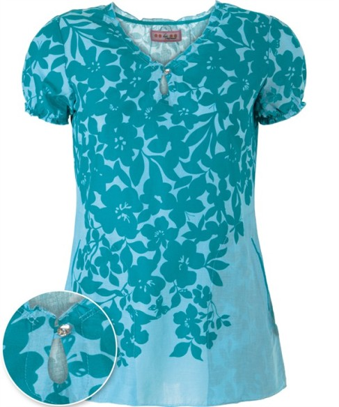 Uniform Advantage Koi Scrubs Romance Print Top