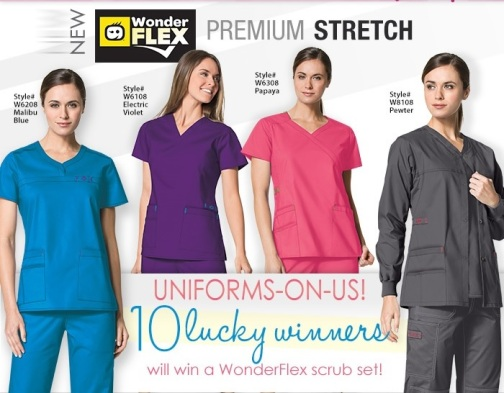 Uniform Advantage wonderflex scrubs contest