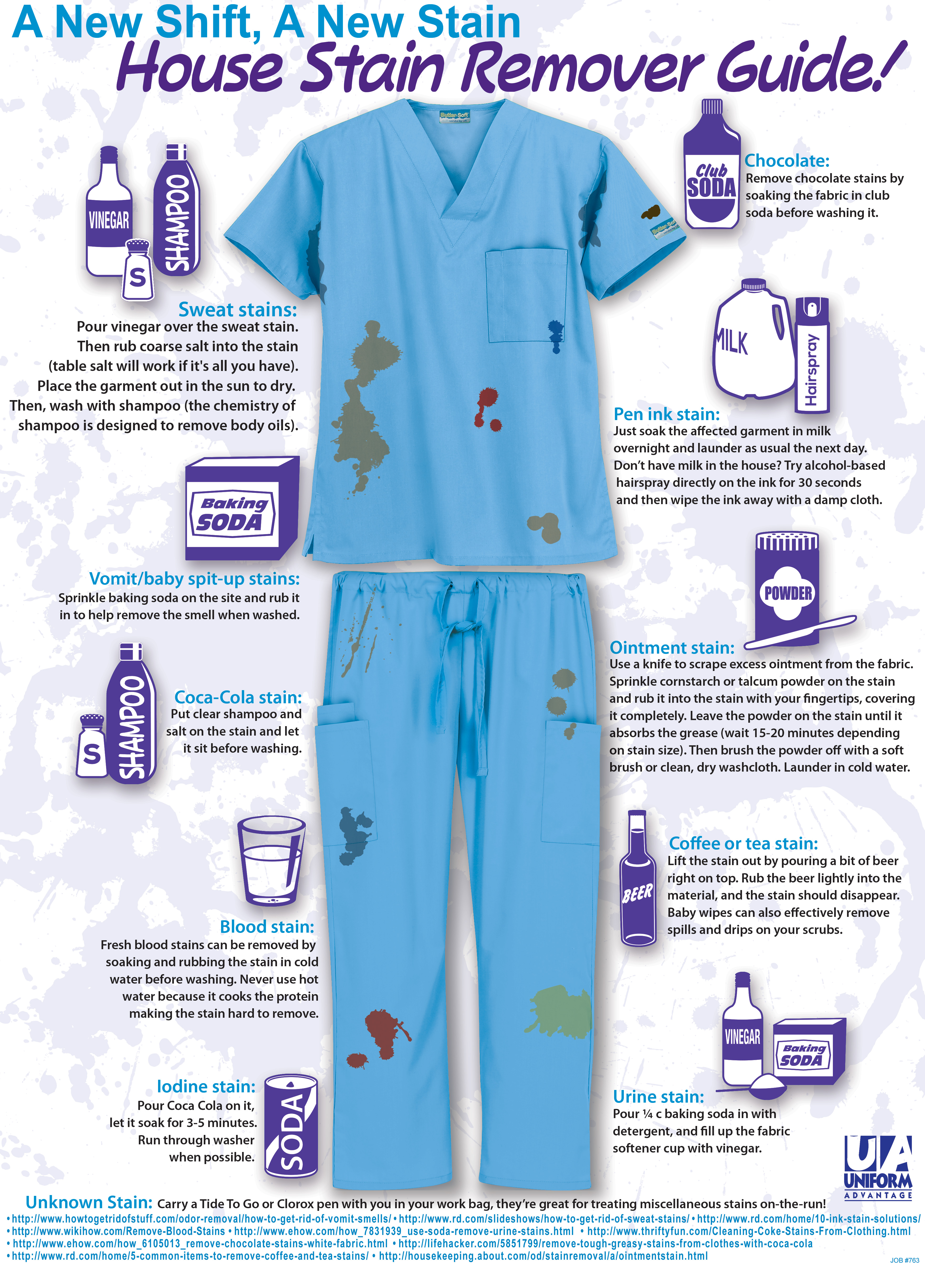 how to remove scrubs stains with uniform advantage s handy removal guide a day in scrubs. Black Bedroom Furniture Sets. Home Design Ideas