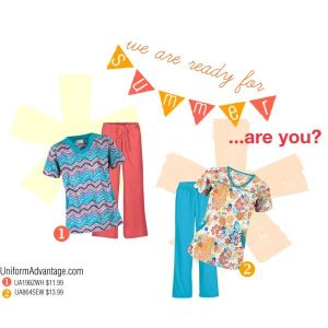 Unifrom Advantage Summer Print Scrubs