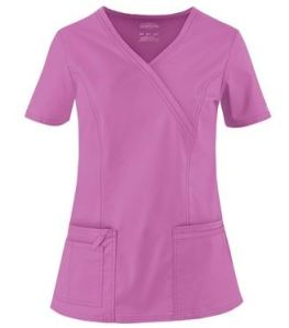 Cherokee Workwear Scrubs Premium Core STRETCH Mock Wrap Top