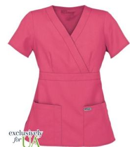 Grey's Anatomy Scrubs Junior Fit Mock Wrap Tops; Style #  GA4153