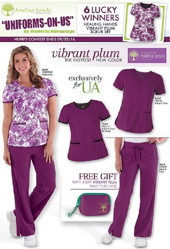 Uniform Advantage Uniforms on Us Healing Hands Scrub Giveaway