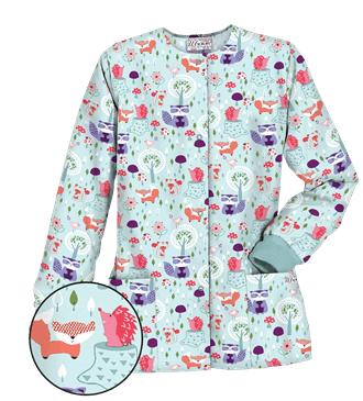 UA Wild Critters Aquamarine Print Scrub Top,Style #  PC62WCA