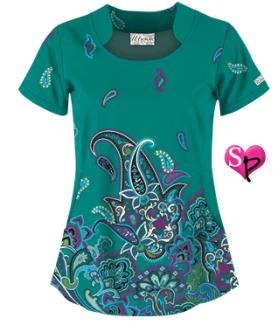 UA Tango Twist Emerald Isle Print Top,  Style # UA748TEI