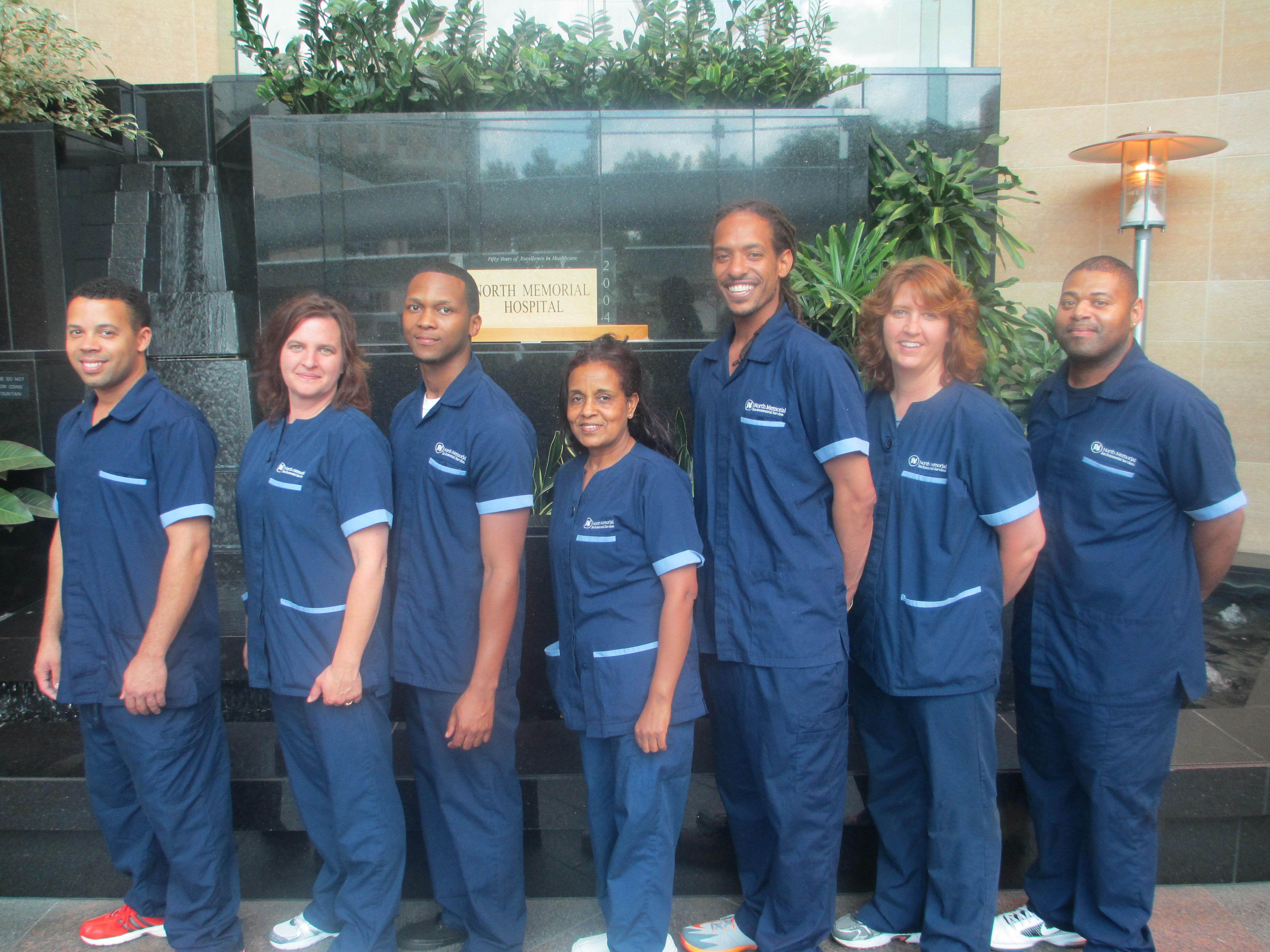 6ed02ed905e North Memorial Environmental Services Team - nursing uniforms outfitted by Uniform  Advantage
