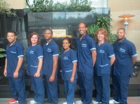 North Memorial Environmental Services Team - nursing uniforms outfitted by Uniform Advantage