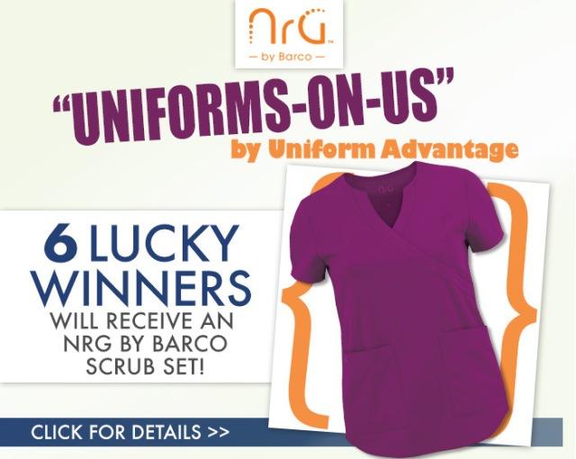 Uniform Advantage's Uniforms-On-Us Contest - Barco NRG Scrubs giveaway
