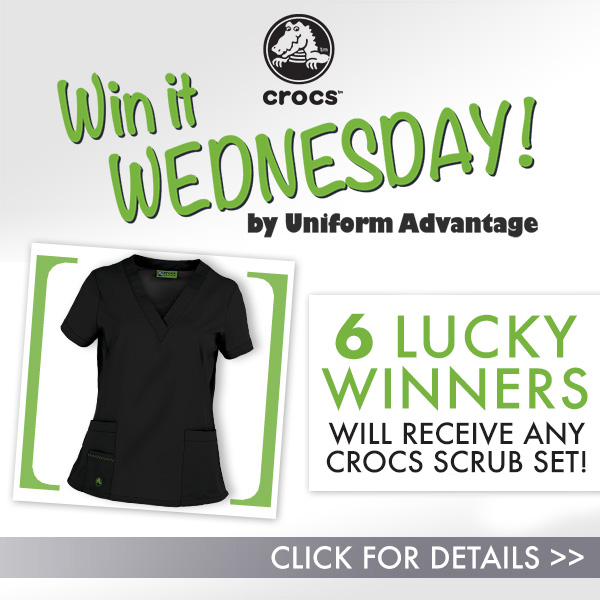 Uniform Advantage Win -It-Wednesday Contest featuring Crocs Scrubs found on blog.uniformadvantage.com