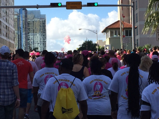 American Cancer Society Making Strides Walk in Fort Lauderdale, Florida