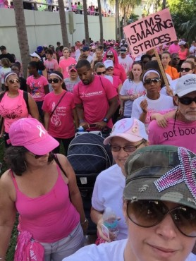 American Cancer's Society Making Strides Walk in Fort Lauderdale, Florida