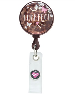 Vet Tech Koi Scrubs Purrfect Badge Reel Style #  K101PRF found on blog.uniformadvantage.com