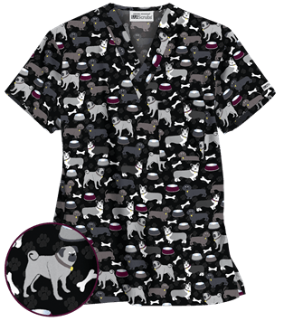 Vet Tech UA Best In Show Unisex Print Scrub Top Style#  UA71BIB found on blog.uniformadvantage.com