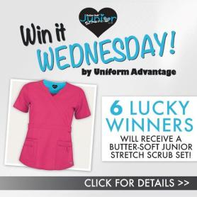 Get ready for Uniform Advantage's Win It Wednesday Contest featuring our very own Butter-Soft™ Junior Fit Stretch Scrubs