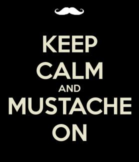 November, Movember - raising Men's Health Awareness one mustache at a time....