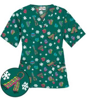 Uniform Advantage's holiday scrub prints - UA Bundle Up Hunter Print Scrub Top