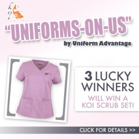 Uniform Advantage's Uniforms-on-Us Contest featuring Koi Scrubs