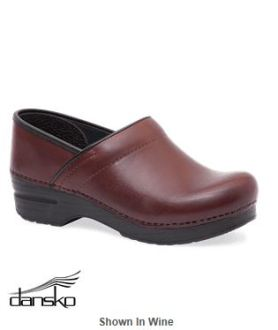Marsala Color for 2015 - Dansko Ladies Professional Full Grain Leather Clog_Style DANSKPFG
