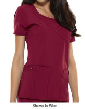 Marsala Color for 2015 - Dickies Xtreme STRETCH Scrubs Mock Wrap Top _Style D82814
