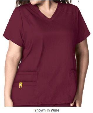 Marsala Color for 2015 - WonderWink Plus Scrubs V-Neck Scrub Top _Style W6105