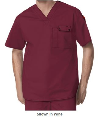Marsala Color for 2015 - WonderWink Scrubs Men's WonderFLEX Honor Utility Top_Style W6618
