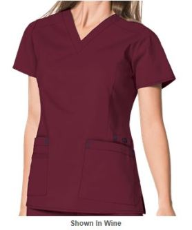 Marsala Color for 2015 - WonderWink Scrubs WonderFLEX Verity V-Neck Top _Style W6108
