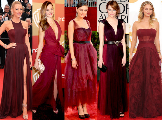 Celebs already on board with Marsala, Pantone color for 2015