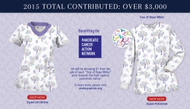 """This Spring 2015, Uniform Advantage will be donating $1 from the sale of each """"Tree of Hope White"""" print to the Pancreatic Cancer Action Network in support of the fight against pancreatic cancer."""