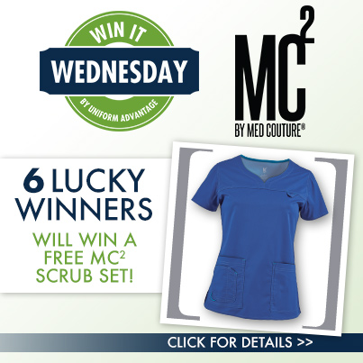 Uniform Advantage Win It Wednesday Contest featuring Med Couture MC² scrubs