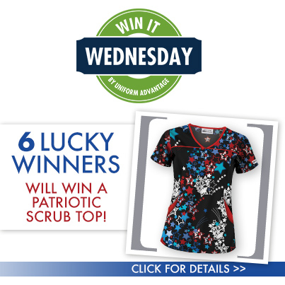Celebrate at work with our Summer holiday scrubs. Be festive with Patriotic print scrubs for 4th of July. Uniform Advantage has a variety of Holiday Scrubs for all seasons.