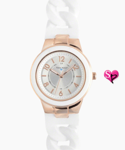 Nurse Mates Silicone Link Watch - Rose Gold/White sold at Uniform Advantage